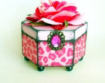 Trinket Box Pink Cheetah
