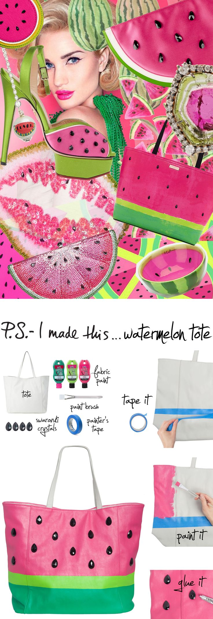P.S.- I made this...Watermelon Tote #psimadethis #diy