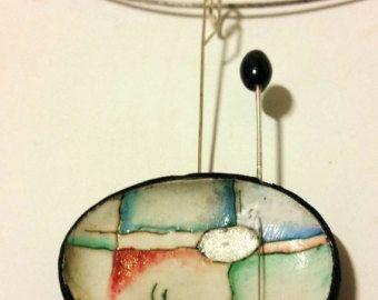 Argilla polimerica collana pezzo unico fatto a mano