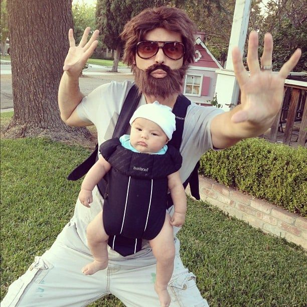 "Get dad and baby involved this Halloween with this hilarious""Hangover"" inspired costume."