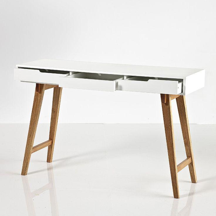NEU Design Schreibtisch Und Konsole SCANIO, Matt Weiss Lackiert,  120x75x40cm Bei DES Deutsche