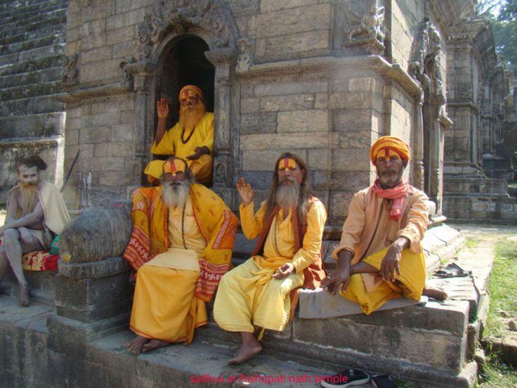 Sadhu people who live in Pashupatinath Temple area . www.nepalmtlovers.com