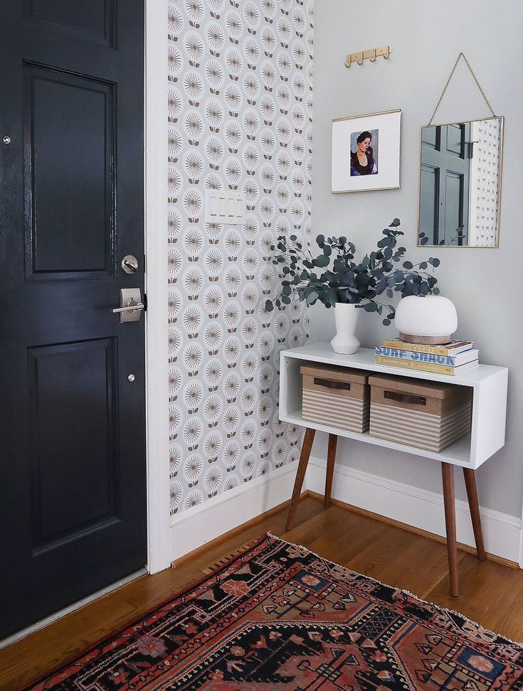 I Love The Versatility Of Removable Wallpaper Especially For The Diversity In Design For A Home Dec Accent Wall Entryway Entry Furniture Wallpaper Accent Wall