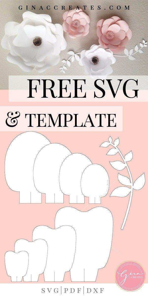 Free Svg Printable Paper Flower Template Free Paper Flower Templates Paper Flower Template Paper Flowers Diy