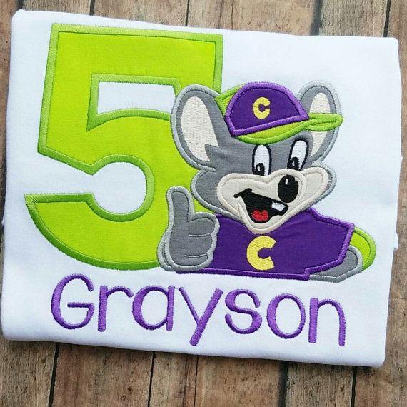 Chuck E Cheese Birthday Shirt Chuck E by CescasCustomCreation