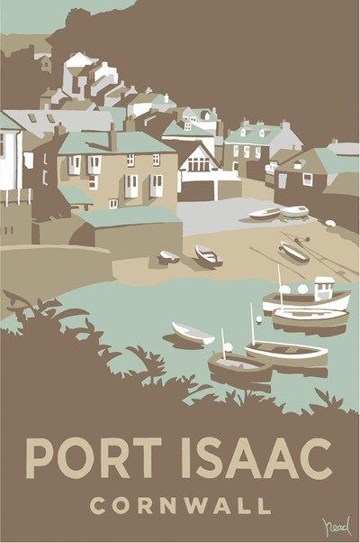 Port Isaac Print at Whistlefish Galleries - handpicked contemporary & traditional art that is high quality & affordable. Available online & in store