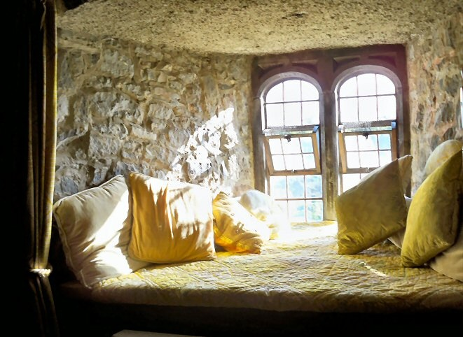 ribbonsmyth: Ireland Window Seat in Our Castle Bedroom