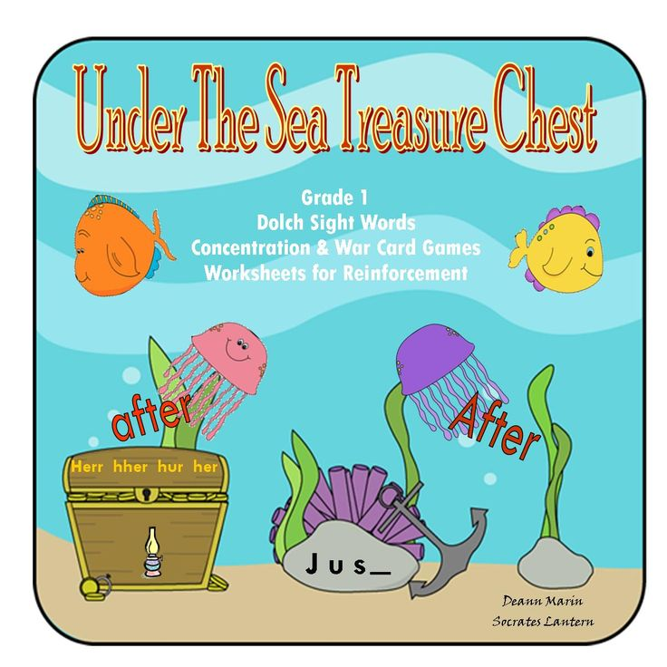 70 best under the sea images on pinterest nautical background dolch sight words for 1st grade esl andor special education classes this fandeluxe Image collections
