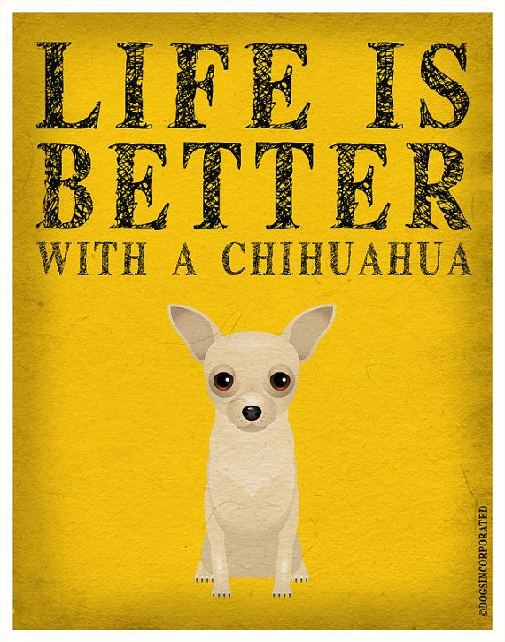 Hey, I found this really awesome Etsy listing at http://www.etsy.com/listing/100153988/life-is-better-with-a-chihuahua-art