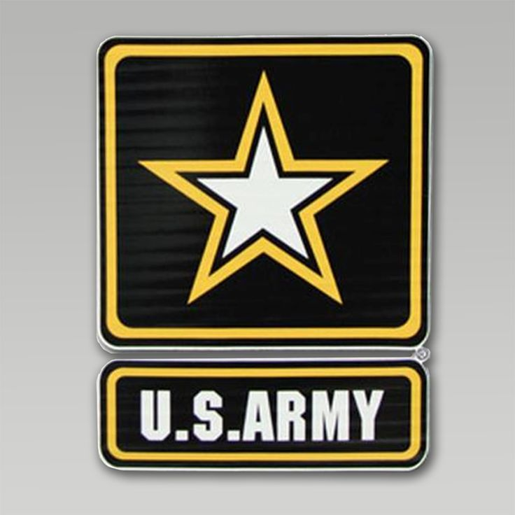 Small army star logo car decal armed forces gear