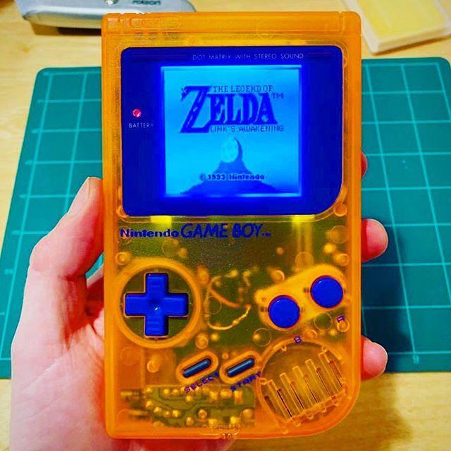 An Awesome Clear Orange Original Game Boy With Backlit Led Photo Credit Retro Robhermy Dmg 01 Gameboy Nintendo Zelda Gamerblog Gameblogger Blog