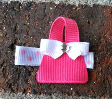 Pretty Pink Purse or Pocketbook Hair Clip Free by leilei1202, $3.25