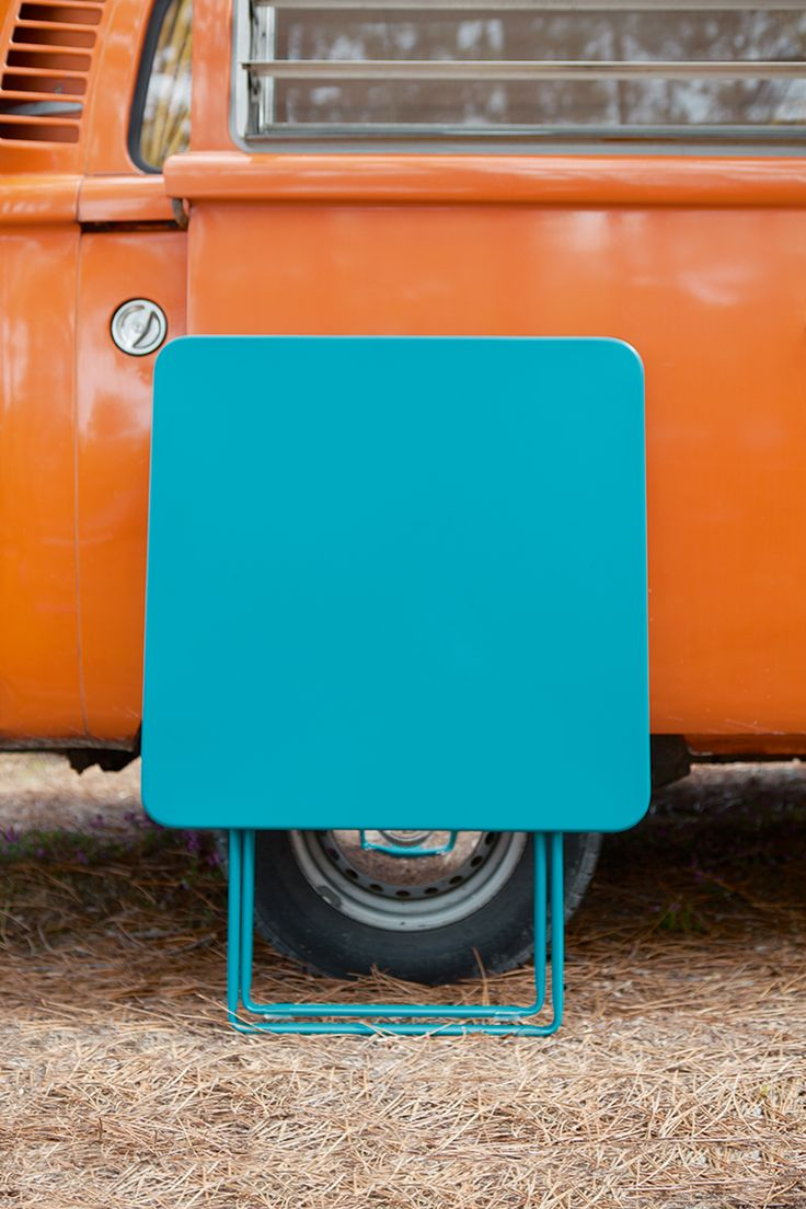 Table pliante Fermob Plein Air #nomade #design #bleuturquoise #blue #camping #nomade #outdoor #holidays