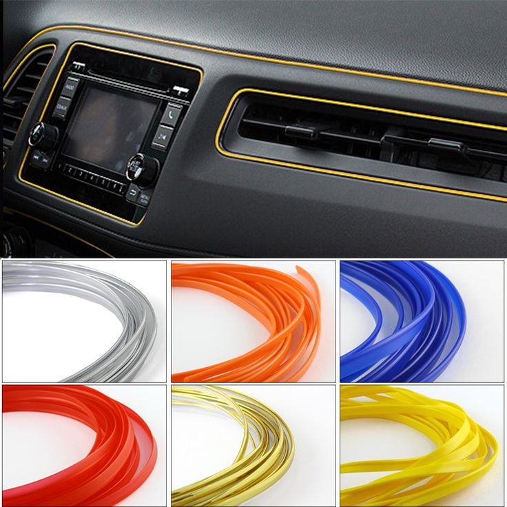 5M Universal Car Styling Flexible Interior Internal Decoration Moulding Trim Decorative Strips Line DIY 7 Colors Car-Styling
