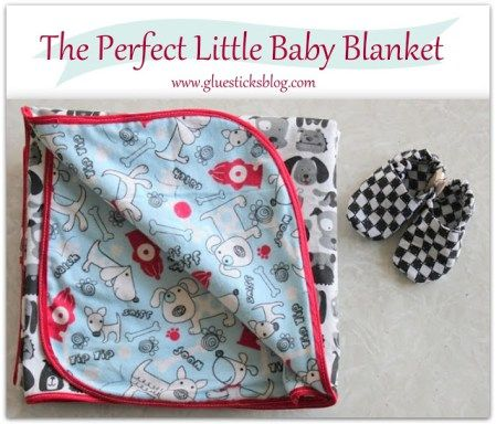 Flannel+Baby+Blanket+|+Gluestficks