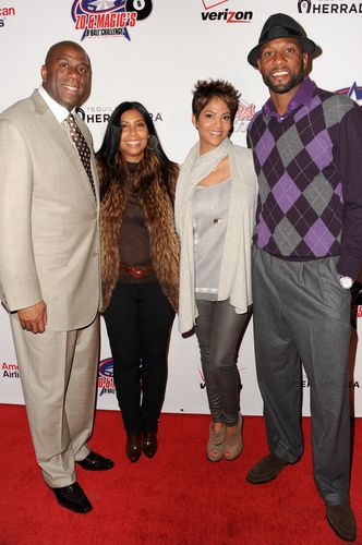 "Magic Johnson and Cokie | Earvin ""Magic"" Johnson, Cookie Johnson, Tracy Wilson Mourning And ..."