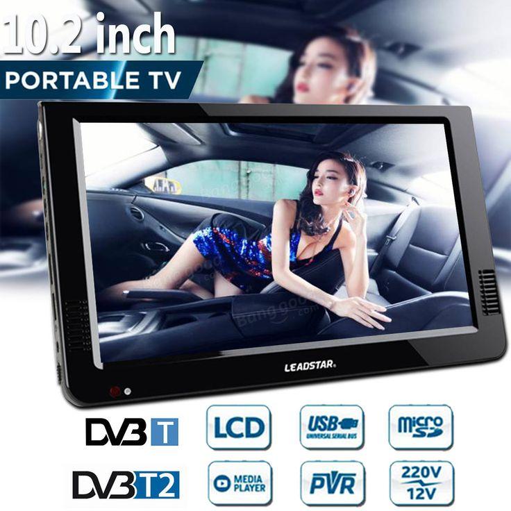 Leadstar 10.2 Inch 12V Portable DVB-T/DVB-T2 TFT LED HD TV Television