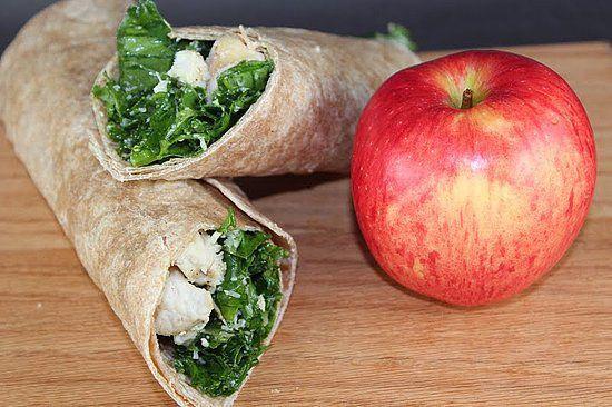 Kale Chicken Caesar Wrap: Bringen Sie etwas Grünkohl auf Ihren Stand …   – Food