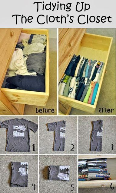 Tidying up the Cloth's Closet #Organize