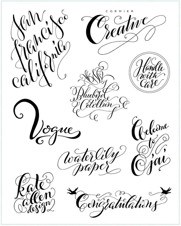 Ideas about modern calligraphy alphabet on pinterest