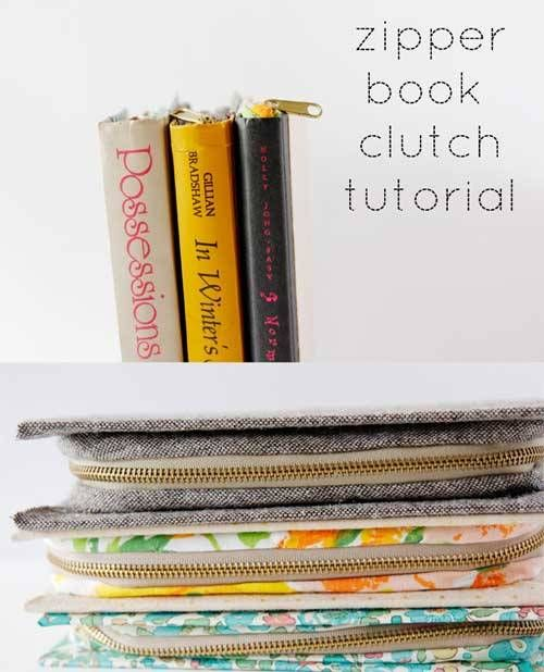 Zippered Book Cover Tutorial ~ Images about bags to sew sewing patterns and