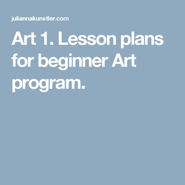 This lays out curriculum based on the elements of art. What an amazing idea! Art 1. Lesson plans for beginner Art program.