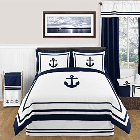 Anchor Bedding! Discover the best anchor themed bedding sets, comforters, duvet covers, anchor quilts, and more.