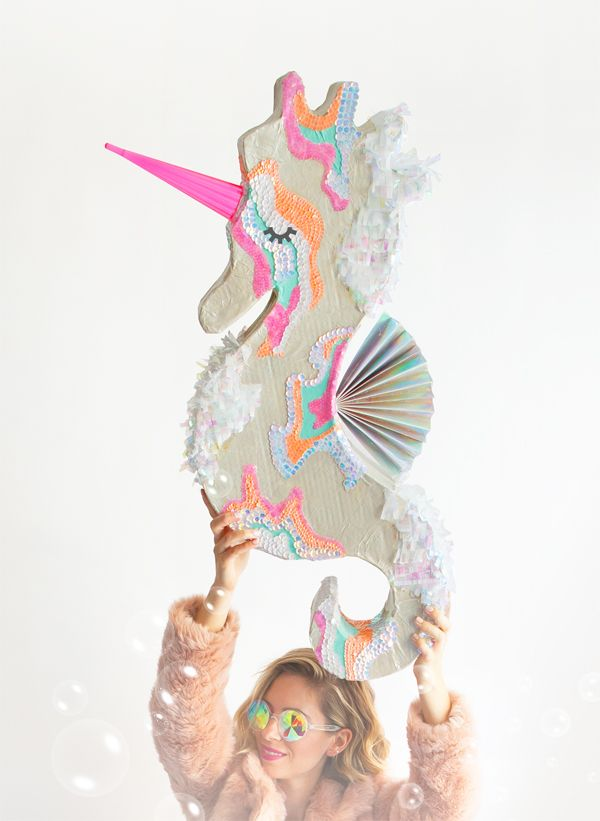 DIY Seahorse Unicorn Piñata | Oh Happy Day! | Bloglovin