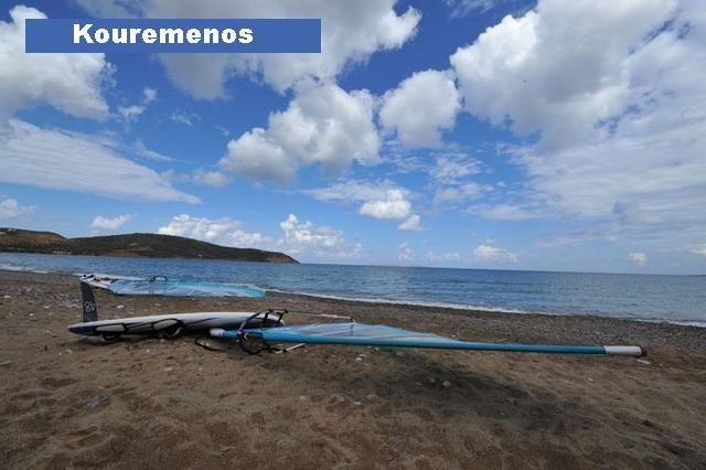 """KOUREMENOS"" ideal beach for windsurfing near the village PALEKASTRO of Sitia Municipality"