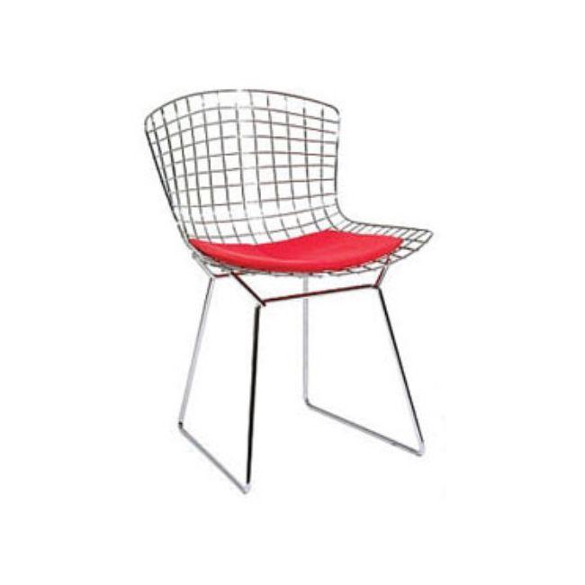Wire Stol - Krom med Svart dyna - TheHome - Möbler på nätet