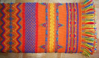 Swedish Weaving Club: Donna's Swedish Weaving Afghan
