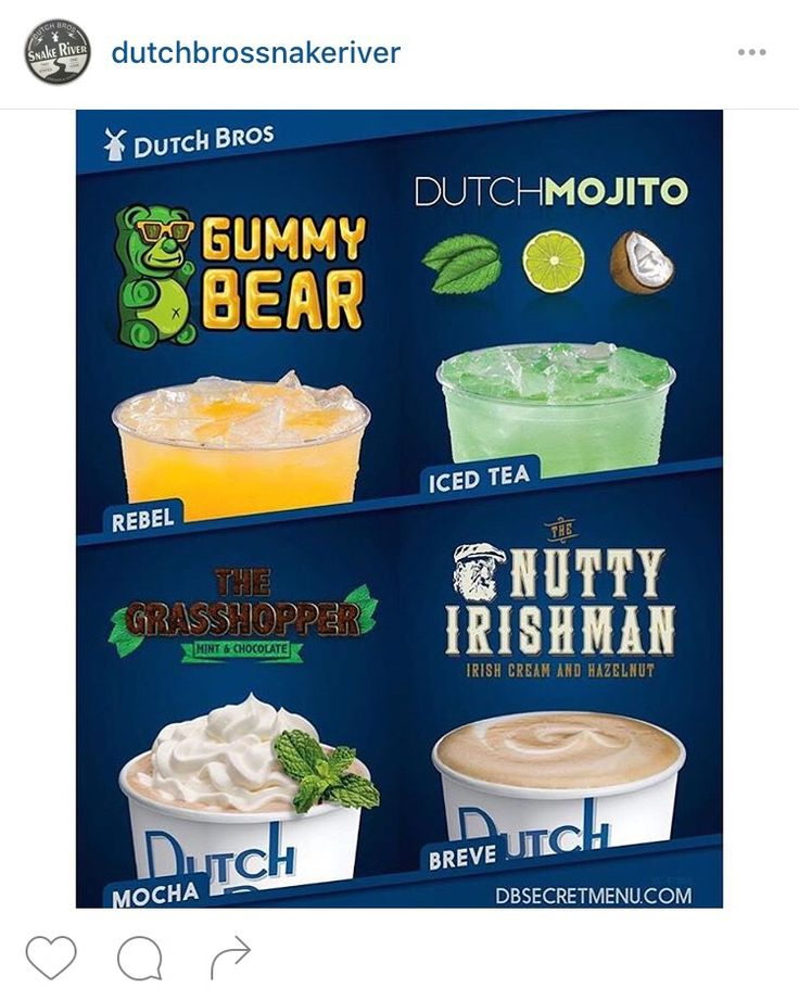 Secret menu for Dutch Bros