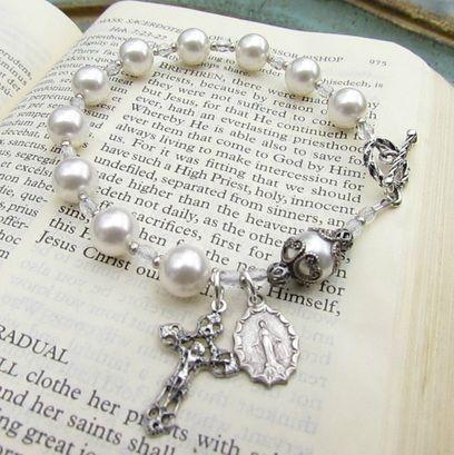 Handmade Rosaries, Strung Rosaries, Rosary Bracelets, Chaplets