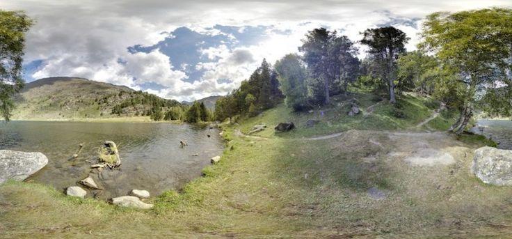 Riu de Querol Ou l'Aravó, Porté-Puymorens, Francia visita virtual 360