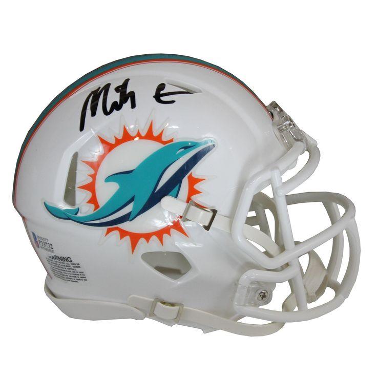 Mike gesicki autographed miami dolphins white riddell mini