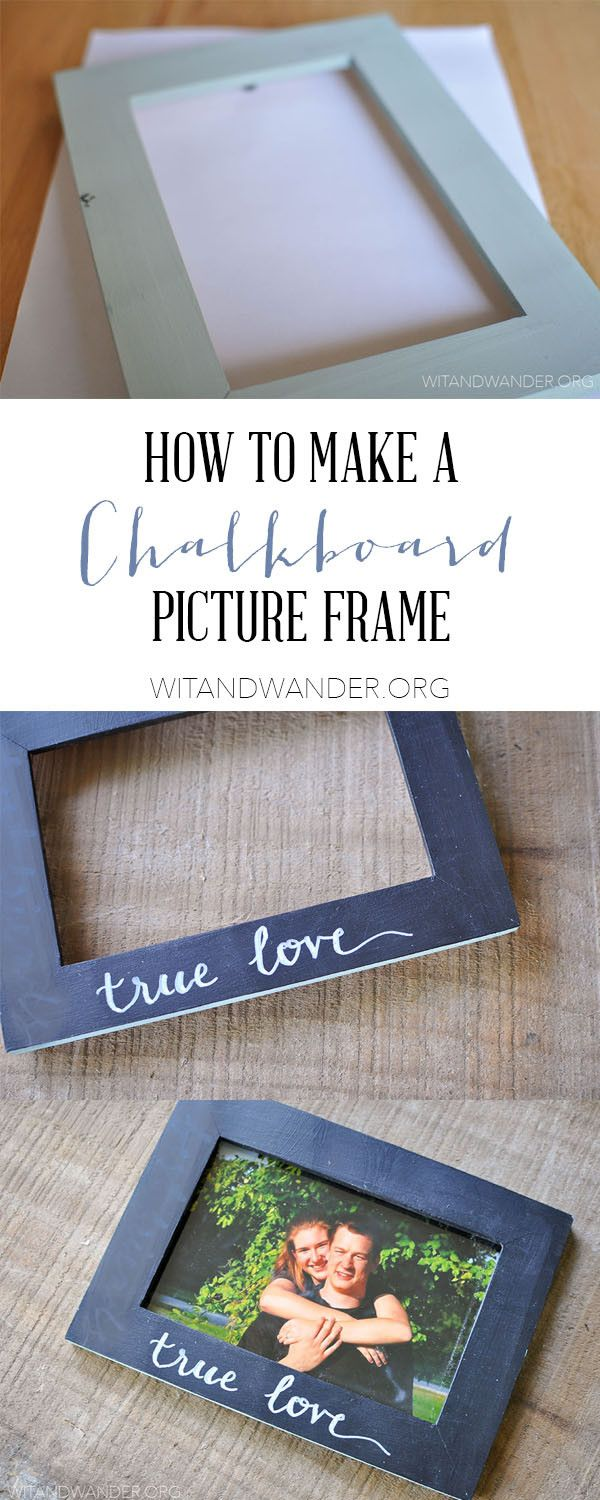 DIY Chalkboard Picture Frame - Wit & Wander Make a DIY Chalkboard Picture Frame with chalkboard paint and an Ikea Picture Frame. This Ikea Upcycle is perfect for kid's rooms, dorm rooms, or as a Christmas or Birthday gift!