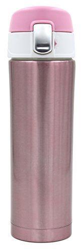 Kooyi Vakuum Isolierbecher aus Edelstahl, Kaffeebecher Reisebecher, Travel Mug 450 ml, 100% auslaufsicher BPA frei, f�r kalt und warm (Rosa)