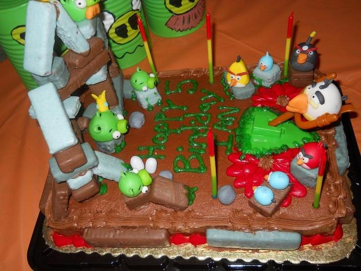 Angry Birds cake: Bird Cakes, Birds Cakes, Angry Birds Cake