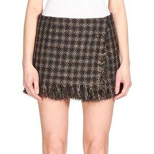 Sonia Rykiel Lamé Tweed Micro-Mini Skirt