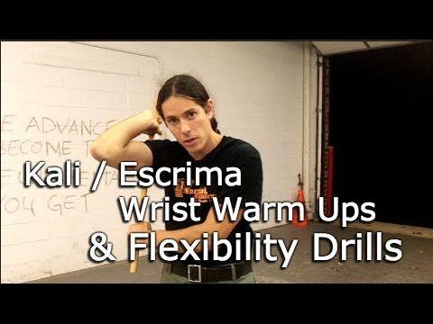 KALI Escrima WRIST Warm Ups and FLEXIBILITY Drills. Filipino martial arts