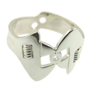 Sterling Silver Spanner Ring, made as gents wedding ring. Handmade by Sam Drummond at Cameron Jewellery