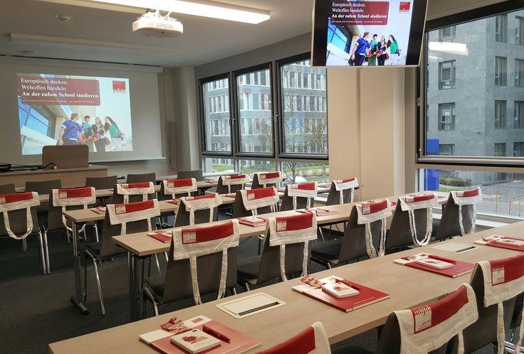 wortpraesenz - beim Bachelor-Master-Day an der eufom Hochschule in Frankfurt. Januar 2016