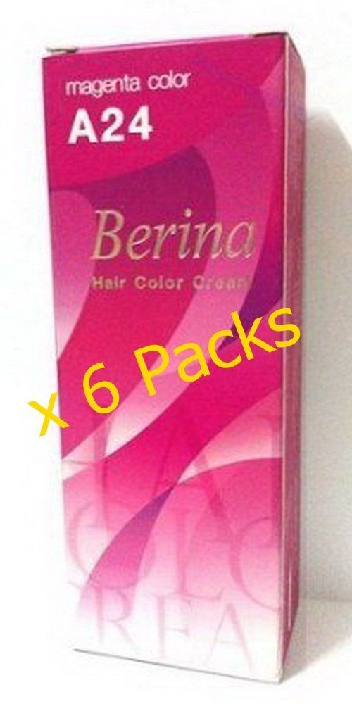Berina A24 Pink Magenta Hair Dye Color Cream ** Details can be found by clicking on the image.