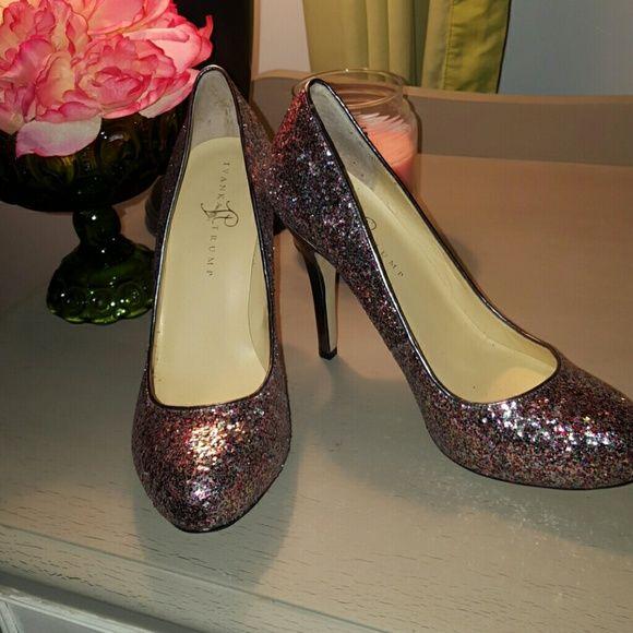 Ivanka Trump Sparkle heels Ivanka Trum sparkle heels.  Worn twice for short periods of time, in fabulous shape!!  4 inch heel. Ivanka Trump Shoes Heels
