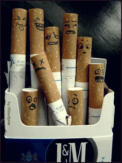 Haha. Don't smoke anymore, but funny. Maybe I should do this to my husbands pack to get him to quit :P