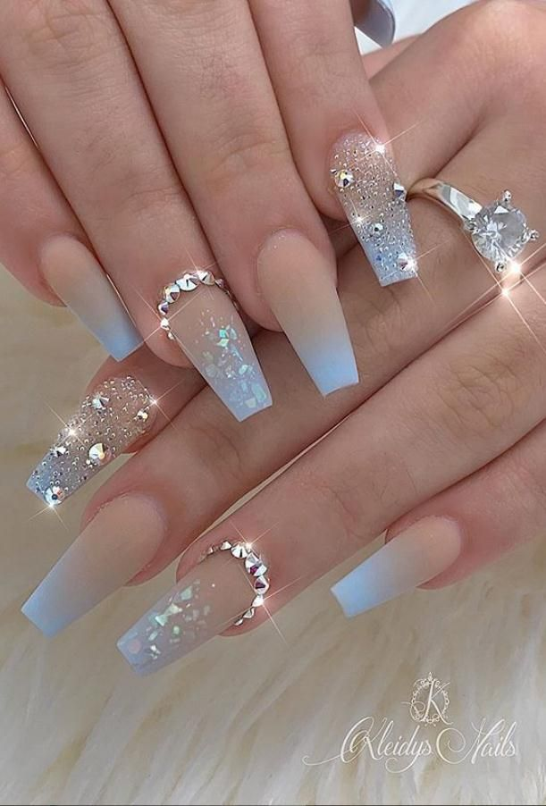41 Kinds Long Coffin Gold Nail More Suitable For Valentine S Day Lily Fashion Style In 2020 Glamour Nails Best Acrylic Nails Cute Acrylic Nail Designs