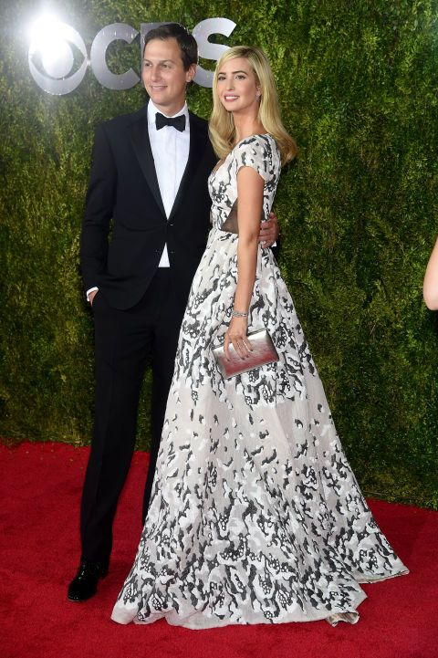 Jared Kushner and Ivanka Trump (Trump in Prabal Gurung). See what everyone wore to the 2015 Tony Awards.