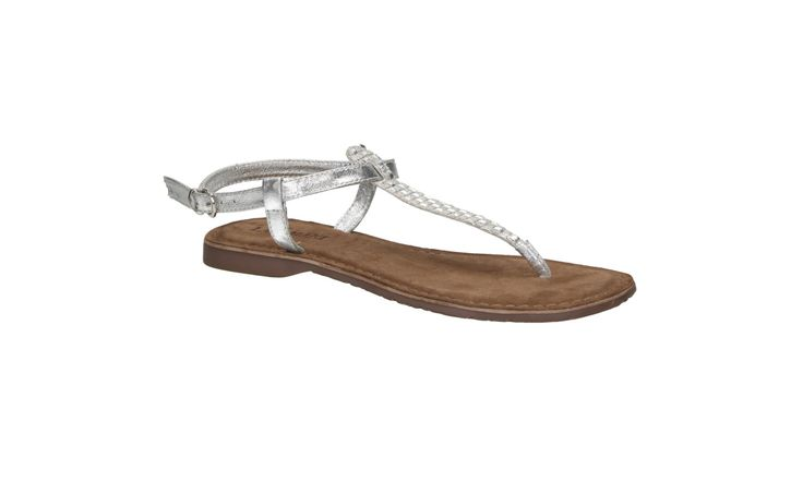 Lazamani 75.382 zilveren platte sandaal
