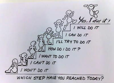 I did it! Great idea for motivation. Even if you only get off the first step you are moving on....