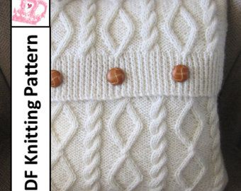 Knit pattern pdf Cable knit pillow cover pattern Blackberry